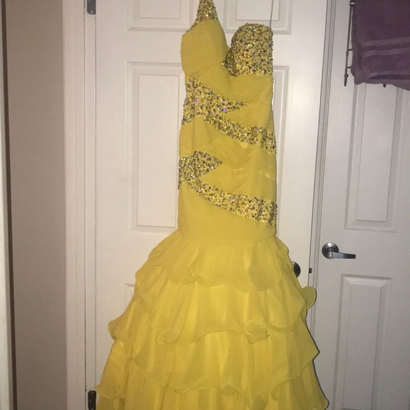 Tony Bowls Dresses | Yellow Pageant Dress | Poshmark